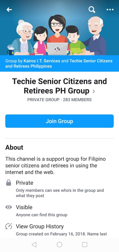 Join Techie Seniors and Retirees PH Facebook Group tutorial image 02
