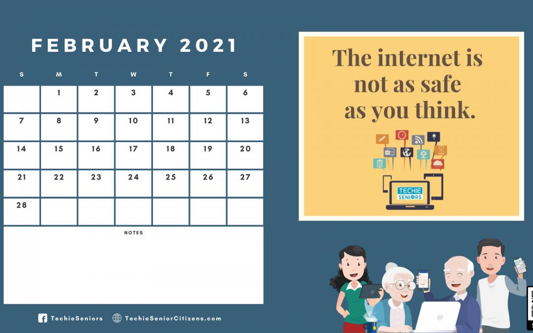 Techie Seniors 2021 Calendar for the Elderly